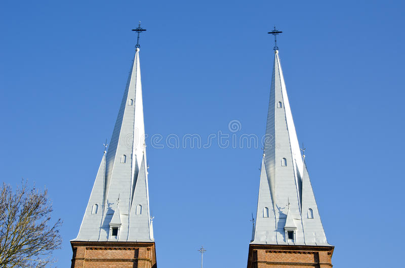Download Church Towers Twins Background Blue Sky Religion Stock Images - Image: 22960334