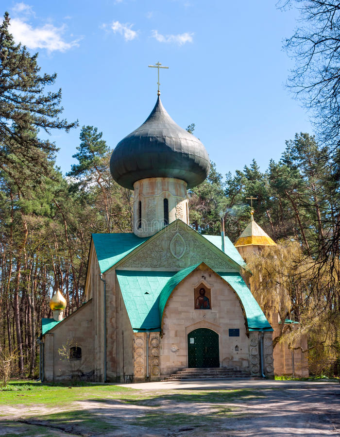 Church of the Transfiguration, the beginning of XX century. Village of Vladimirovka, Kharkiv region, Ukraine. Church of the Transfiguration, the project of royalty free stock photos