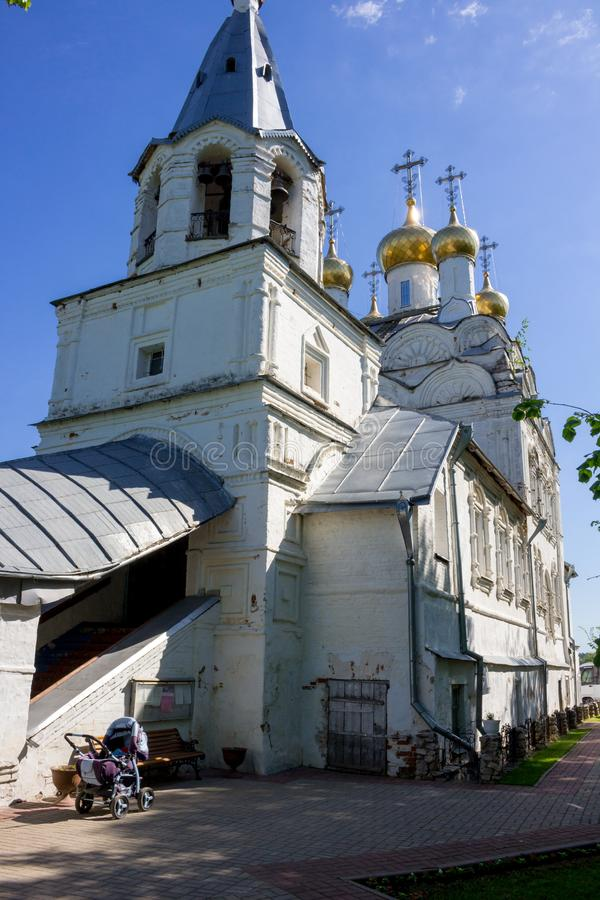 SPAS-ZAGORJE, RUSSIA - MAY 2017: Church of the Transfiguration royalty free stock photography