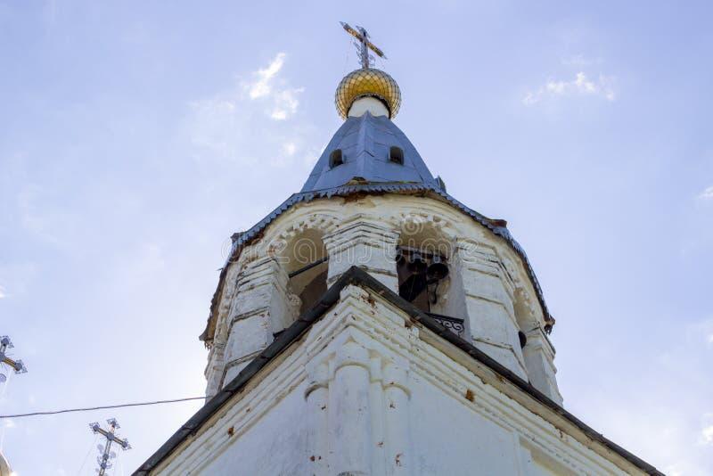SPAS-ZAGORJE, RUSSIA - MAY 2017: Church of the Transfiguration. Church of the Transfiguration in Spas-Zagorje, Kaluzhskiy region. Russia royalty free stock photo