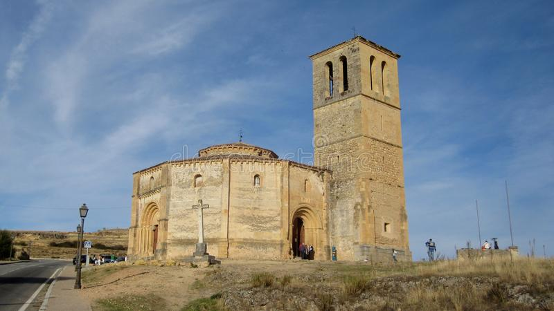 Church of the True Cross. Templar Church of the True Cross in Segovia stock images