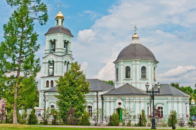 Church in Tsaritsino Park, Moscow stock images