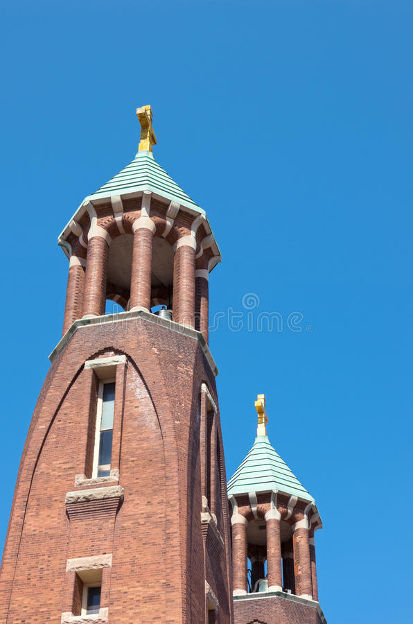 Church Twin Spires and Towers royalty free stock photo