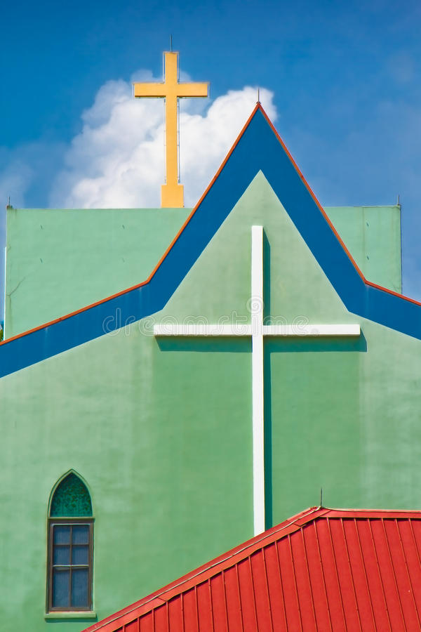 Free Church Two Crosses Stock Images - 10055624