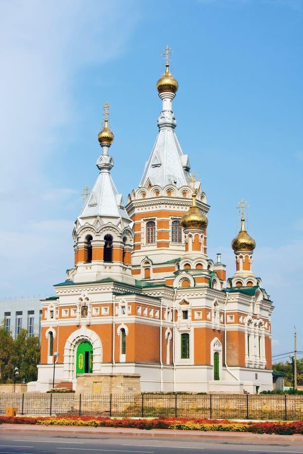 Church in Uralsk city stock photography