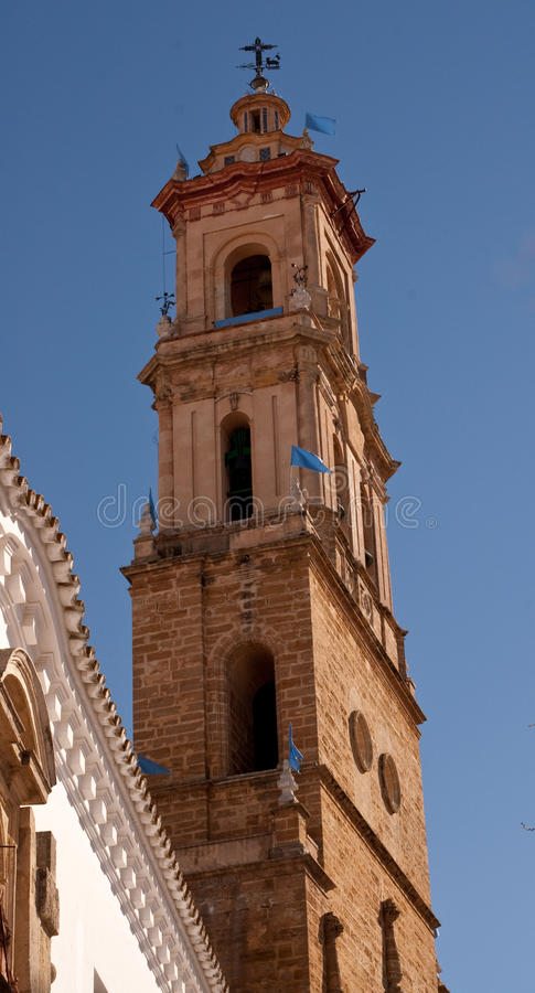 Church in Uretra, Spain. View of Uretra ,Church in Uretra, Spain stock photo