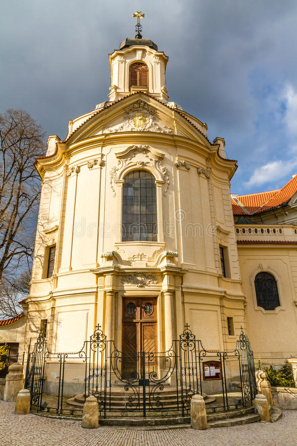 Church of Ursuline Convent - Kutna Hora. Beautiful View Of Church of Ursuline Convent - Kutna Hora, Czech Republic royalty free stock photography