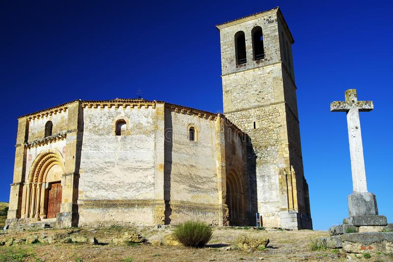 The church of Vera Cruz, the Catholic Romanesque church located north of Segovia city. stock images