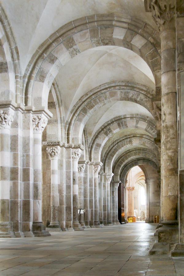 Church of Vezelay in France stock photography