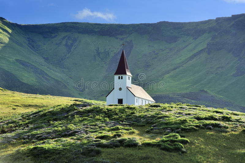 Church at Vik, Iceland stock photography