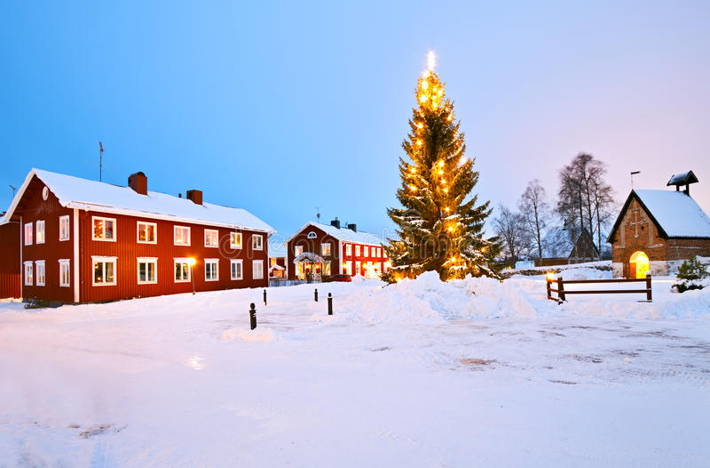 Church Village of Gammelstad royalty free stock photo