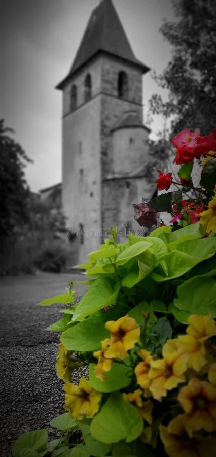 Church Vintage Flowers stock image