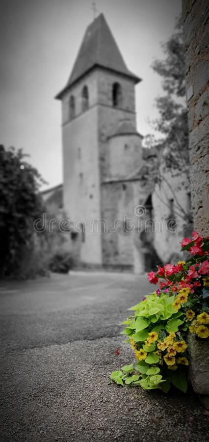 Church Vintage Flowers stock images