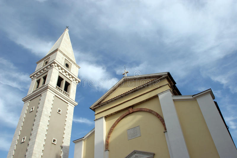Church in Vrsar, Istria, Croatia royalty free stock photography