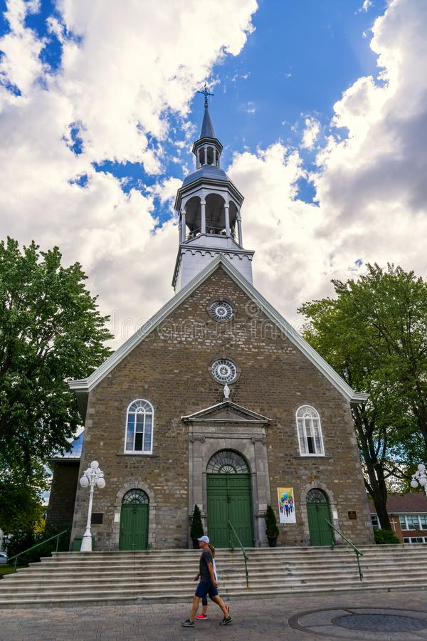 Boucherville Sainte-Famille church architecture royalty free stock photo