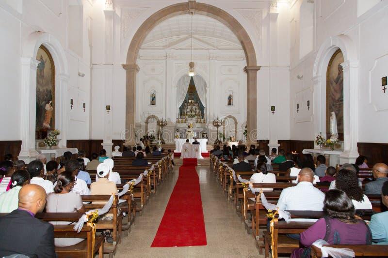 Church wedding stock image