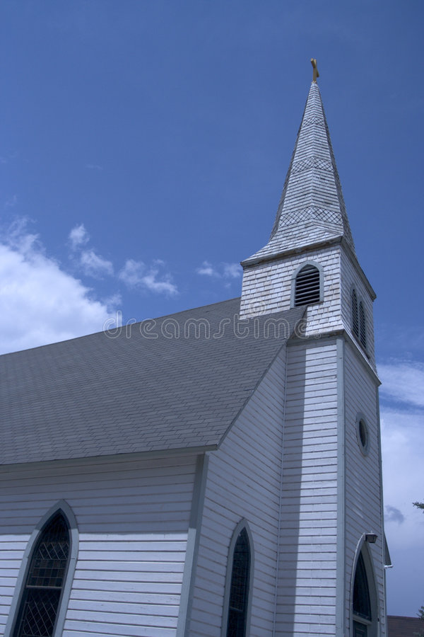 Church with wide angle royalty free stock photo