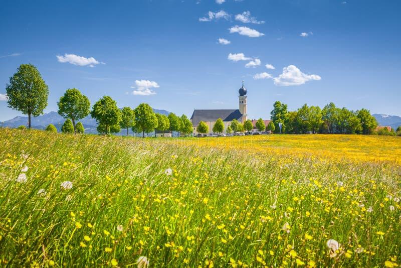 Church of Wilparting, Bavaria, Germany stock photo