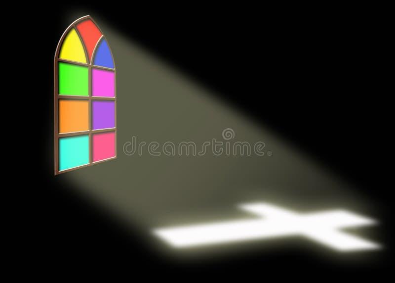 Church window stock illustration