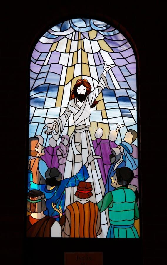 Church Window pane 3 stock images