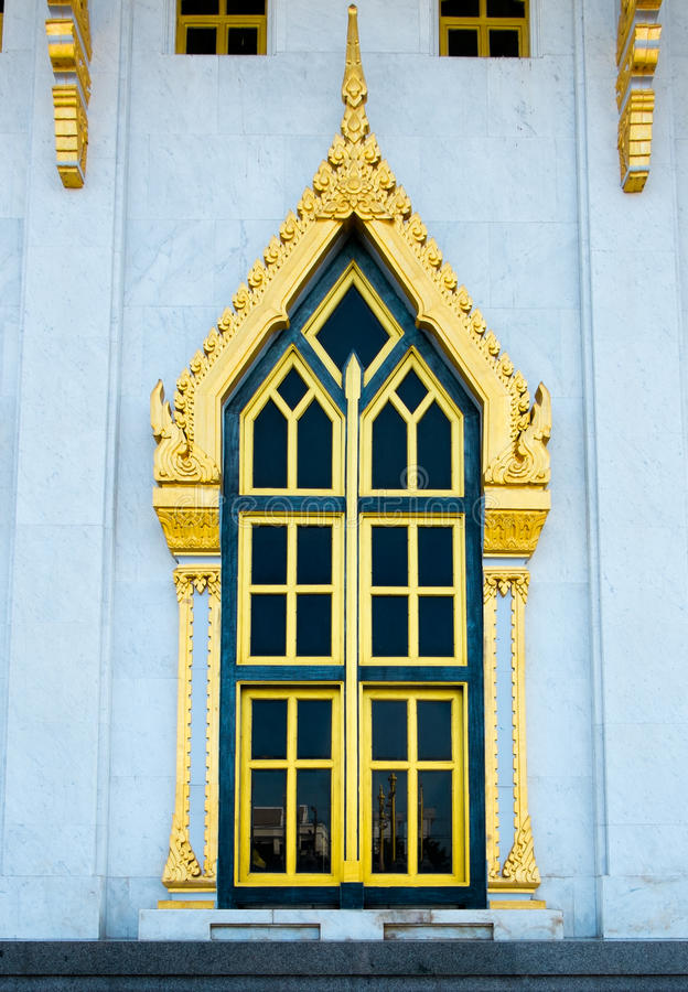 Church window. Sothon in daytime royalty free stock photos
