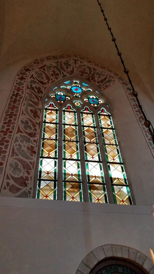 Church window Visby Gotland (sweden) royalty free stock images