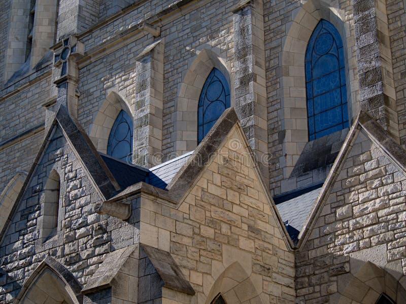Church windows royalty free stock photo