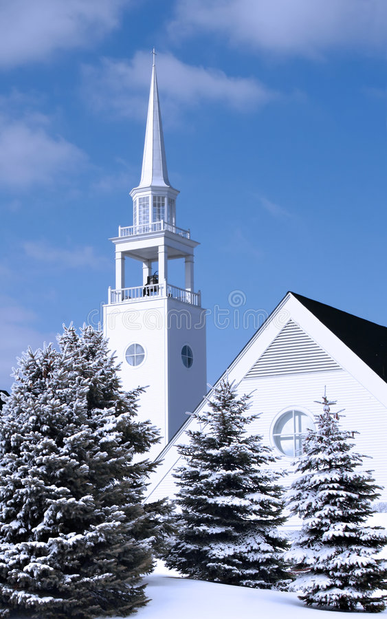 Church in Winter stock image