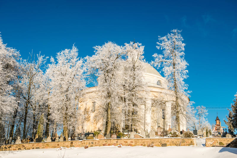 Church in winter royalty free stock images