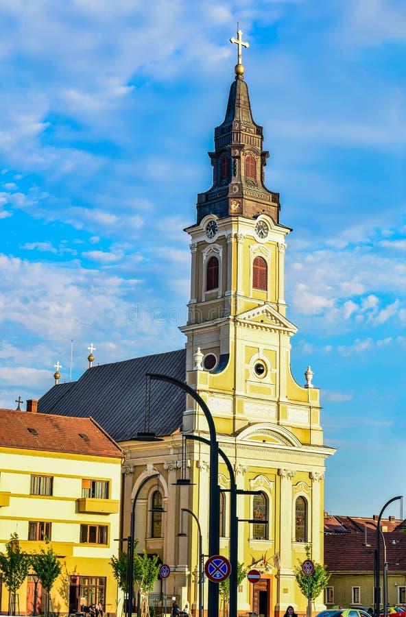 Free Church With Moon 1- Oradea Stock Image - 179643441