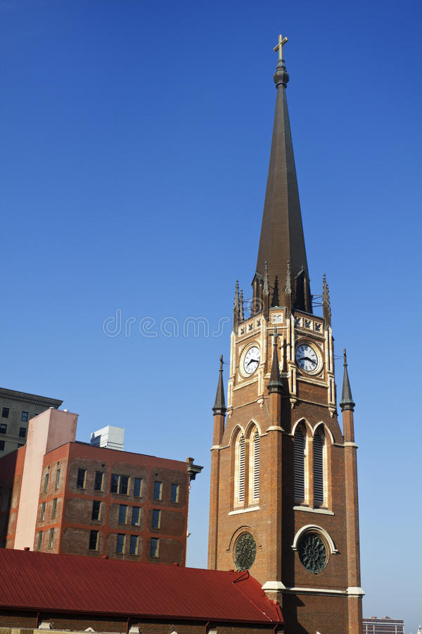 Free Church With The Clock Tower Stock Image - 19739511