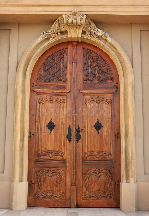 Church wood door royalty free stock images