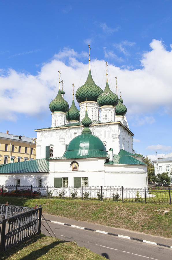 Church at YAROSLAVL city, Russia. This picture is taken at YAROSLAVL. Yaroslavl is a Russian city northeast of Moscow in the Golden Ring, a cluster of ancient royalty free stock image