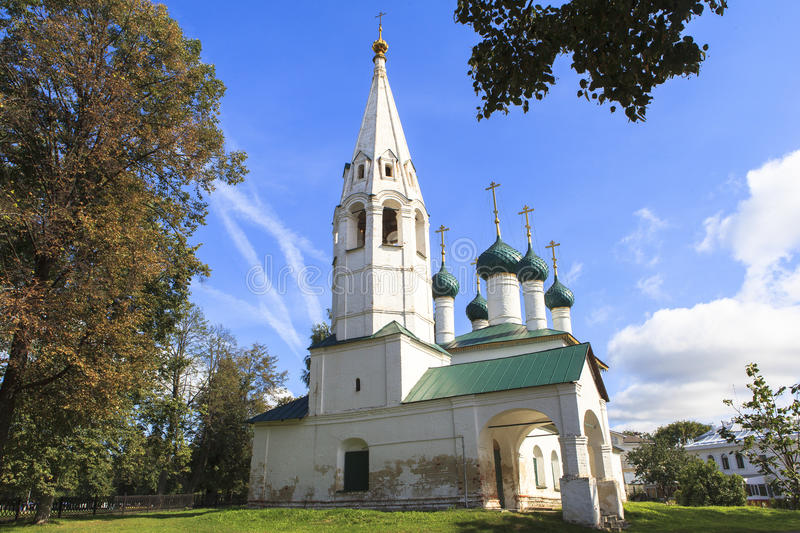 Church at YAROSLAVL city, Russia. This picture is taken at YAROSLAVL. Yaroslavl is a Russian city northeast of Moscow in the Golden Ring, a cluster of ancient stock photography