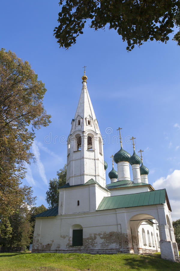 Church at YAROSLAVL city, Russia. This picture is taken at YAROSLAVL. Yaroslavl is a Russian city northeast of Moscow in the Golden Ring, a cluster of ancient royalty free stock photography