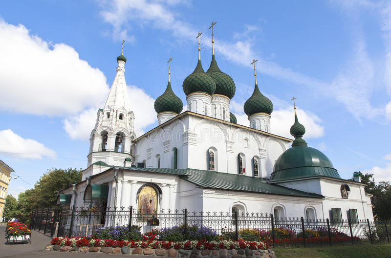 Church at YAROSLAVL city, Russia. This picture is taken at YAROSLAVL. Yaroslavl is a Russian city northeast of Moscow in the Golden Ring, a cluster of ancient stock photo