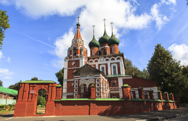 Church at YAROSLAVL city, Russia. This picture is taken at YAROSLAVL. Yaroslavl is a Russian city northeast of Moscow in the Golden Ring, a cluster of ancient stock photos