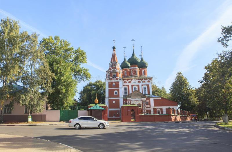 Church at YAROSLAVL city, Russia. This picture is taken at YAROSLAVL. Yaroslavl is a Russian city northeast of Moscow in the Golden Ring, a cluster of ancient stock image