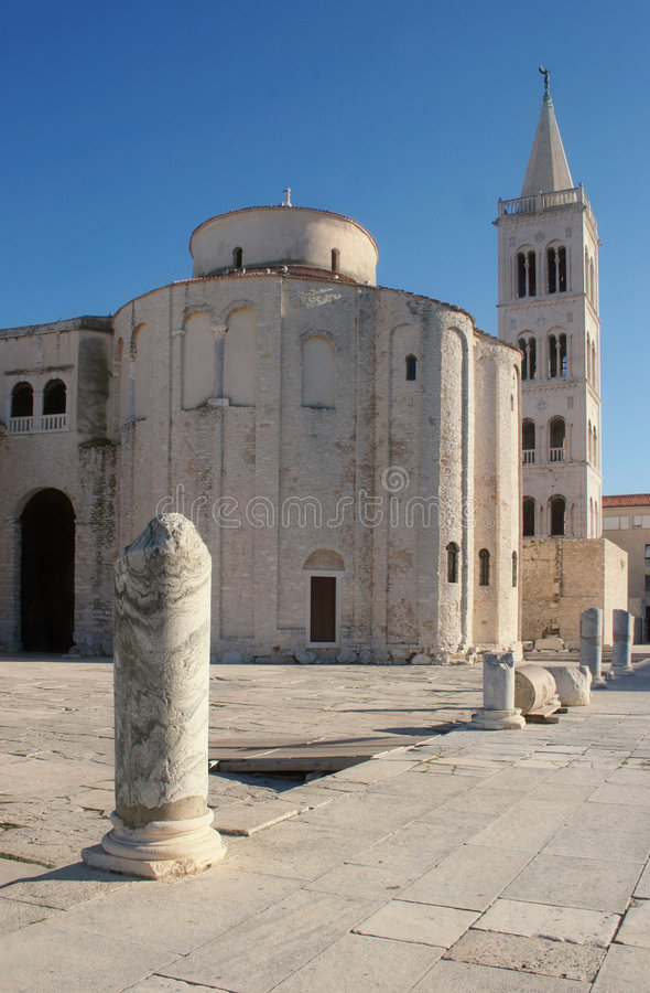 Church in Zadar, Croatia royalty free stock photography