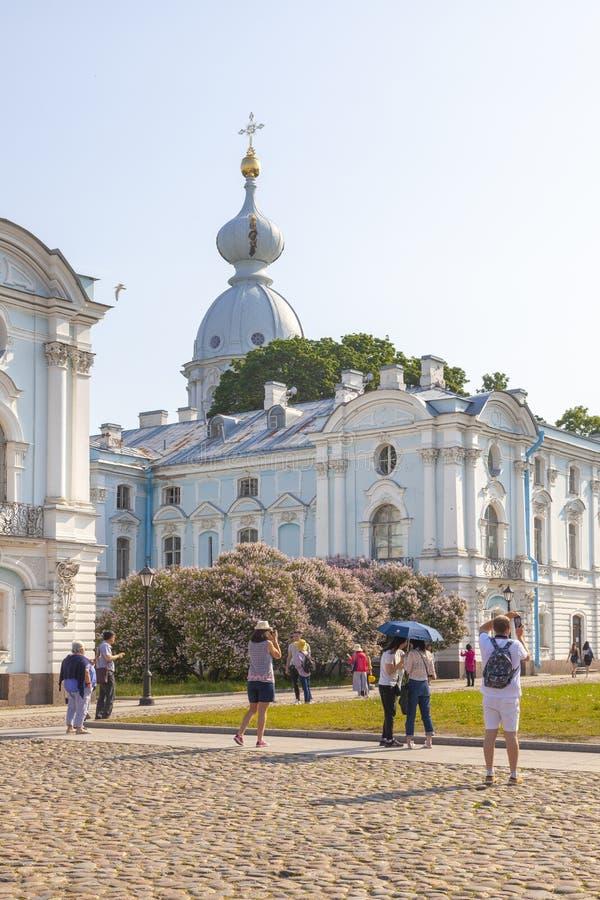 Church of Zechariah and Elizabeth in the city of Saint Petersburg stock photo