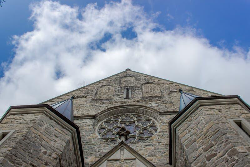 Churche de piedra hermoso en Schwarzach en Vorarlberg, Austria fotografía de archivo libre de regalías