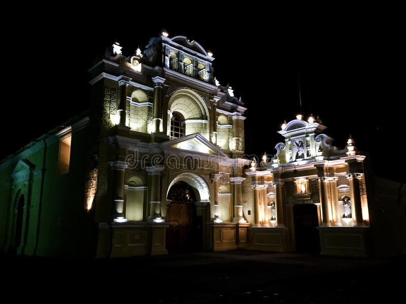 Churches of Antigua Guatemala. Antigua Guatemala is one of the most beautiful cities in Central America and the world, this city is full of churches everywhere royalty free stock photos