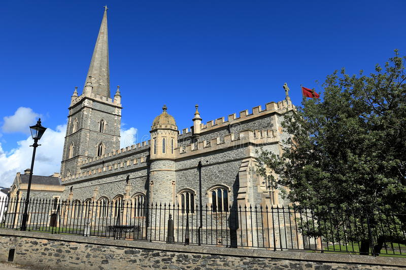 Churches of Derry in Northern Ireland. The churches of Derry in Northern Ireland royalty free stock photo