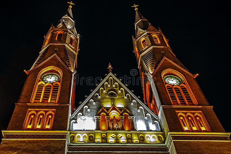 Download Churches night 2 stock image. Image of night, belief - 26256801