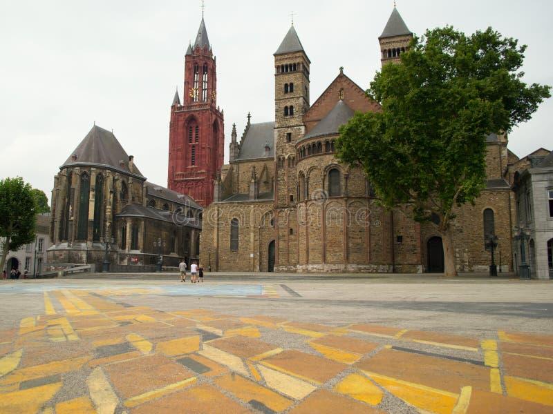 Churches of Sint-Servantus and Sint-Janskerk stock image
