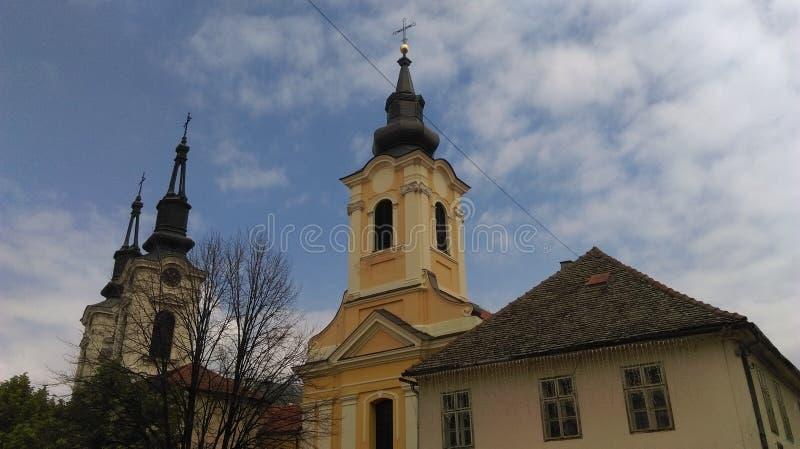 Churches in Sremski Karlovci stock image
