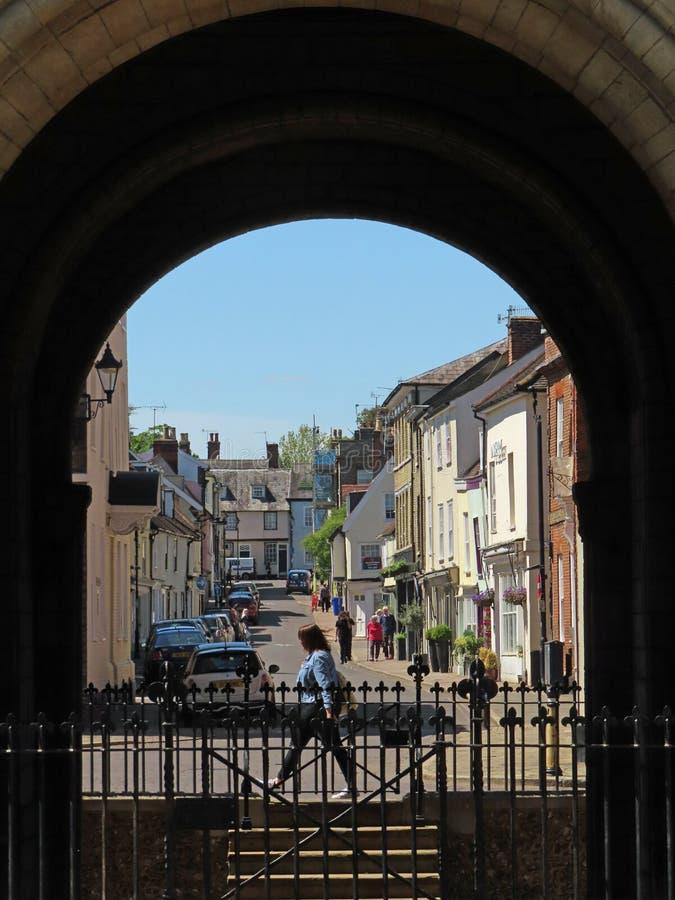Free Churchgate Street Through The Arch Royalty Free Stock Photos - 159924328