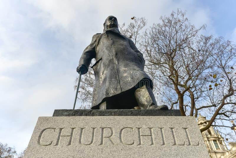 Churchill - domy parlament - Londyn zdjęcia royalty free