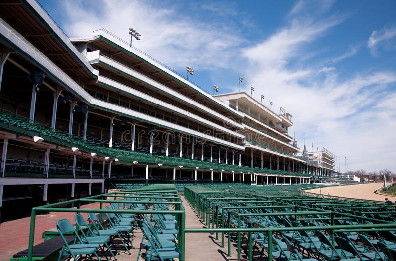 Churchill Downs. Empty Churchill Downs before the Kentucky Derby stock image