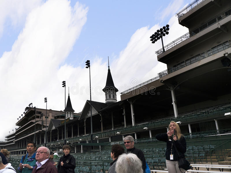 Churchill Downs home of the Kentucky Derby in Louisville USA. Churchill Downs, located on Central Avenue in south Louisville, Kentucky, United States, is a royalty free stock images